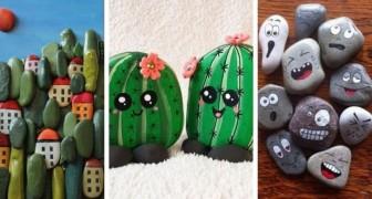 10 modi creativi e adorabili per dipingere i sassi e trasformarli in piccoli capolavori