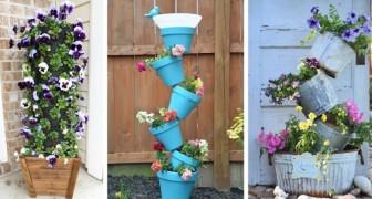 11 ottime idee per realizzare delle bellissime fioriere verticali, funzionali e colorate