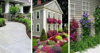 12 soluzioni fai da te per decorare il giardino creando splendide aiuole all'entrata di casa