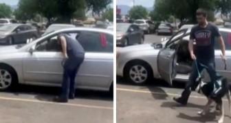 Un homme sauve un chien enfermé dans une voiture brûlante : le maître est accusé de cruauté envers les animaux