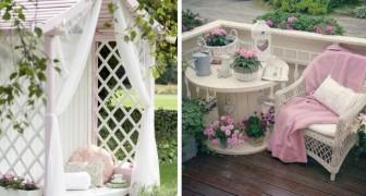 13 proposte una più bella dell'altra per arredare il giardino in perfetto stile shabby chic