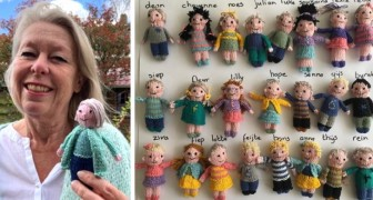 In der Pandemie strickt eine Lehrerin 23 Mini-Versionen von ihren Schülern