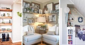 11 soluzioni pratiche e piene di stile per arredare anche gli angoli più difficili di casa