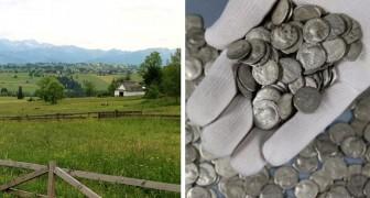 Ein Bauer findet auf seinen Feldern zufällig einen antiken Schatz: 1.753 römische Münzen