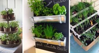 12 soluzioni ingegnose per far crescere le erbe aromatiche in casa in strepitose fioriere fai-da-te