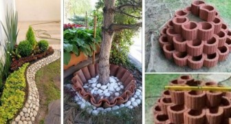 16 idee irresistibili per creare bordure delle aiuole fai-da-te usando tegole, mattoni e non solo