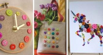 13 trovate una più bella dell'altra per decorare riciclando i vecchi bottoni