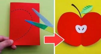 Il semplice tutorial passo dopo passo per creare un delizioso biglietto di carta a forma di mela
