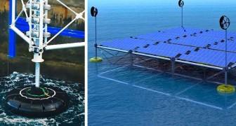 Una piattaforma galleggiante che produce energia da onde, vento e sole: il progetto di una startup tedesca