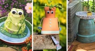 13 modi originali per riciclare i vasi di terracotta e decorare il vostro giardino
