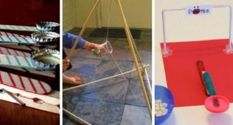 10 progetti creativi per realizzare delle mini-catapulte e divertirsi riciclando oggetti comuni