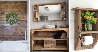 14 soluzioni creative per arredare il bagno in stile rustico riciclando legno dei pallet