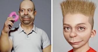 Un artista ricrea i personaggi de I Simpson grazie alla modellazione 3D: sembrano usciti dalla vita reale