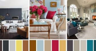 Le 7 combinazioni di colore perfette per arredare con gusto qualsiasi salotto