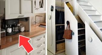 15 soluzioni eleganti e ingegnose per nascondere gli oggetti in casa e guadagnare spazio prezioso