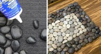 Il modo semplice e creativo per realizzare un fantastico tappetino fai-da-te con le pietre naturali