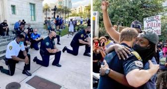 Manifestazioni contro il razzismo in USA: 13 momenti di protesta pacifica che i media tendono a non mostrare