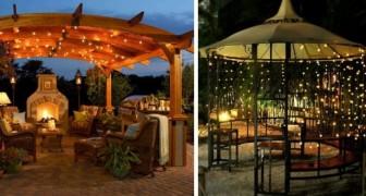 12 trovate di grande effetto per illuminare gazebo e pergolati rendendo unico il vostro giardino