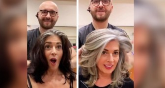 This hairstylist encourages his clients to be proud of their grays, not cover them up