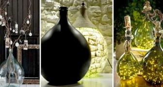 15 soluzioni ingegnose per riciclare le vecchie damigiane e trasformarle in oggetti pieni di stile