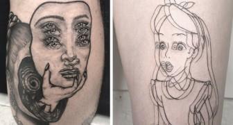 Questa ragazza si è specializzata nel creare tatuaggi che ingannano la vista con uno psichedelico effetto mosso