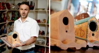 Een fabriek in Turkije maakt dakpannen die vogels huisvesten en beschermen tegen de elementen van de natuur