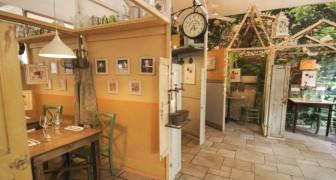 Un ristorante di Milano si trasforma in un piccolo villaggio per rispettare le misure anti-Covid
