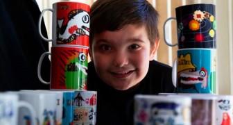 En autistisk pojke målar färgglada muggar som terapi, men sen börjar alla att köpa dem