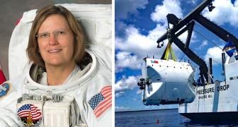 Ze is een astronaut, de eerste vrouw die het diepste punt in de oceaan bereikte en daarmee een nieuw record vestigde