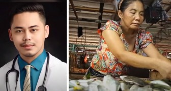 Esta mãe trabalhou no mercado de peixe durante 12 horas por dia para que seu filho estudasse: ele agora é médico
