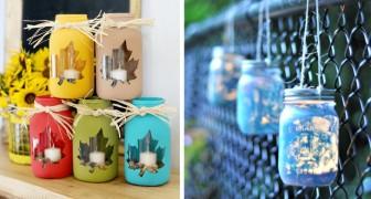 12 spunti creativi per riciclare i barattoli di vetro e trasformarli in originalissime lanterne
