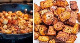 A receita para preparar deliciosas batatas rústicas caseiras: crocantes por fora e macias por dentro