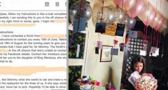 Ze ontvangt een e-mail van haar vader die tien maanden eerder is overleden: in de mail staan de instructies om de zilveren bruiloft te vieren
