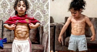This 6 year old already has a sculpted physique like an Olympic champion and wants to become a successful footballer