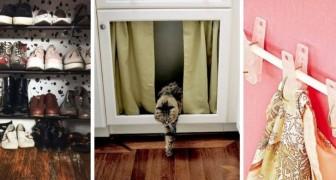10 trovate geniali per utilizzare i bastoncini a pressione e ottimizzare tanti diversi spazi di casa