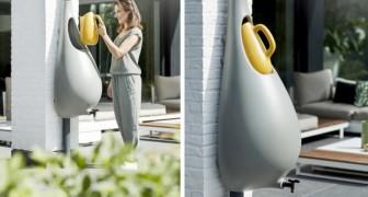 Raindrop, le collecteur d'eau de pluie en forme de goutte qui s'adapte à tout environnement domestique