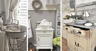 10 spunti affascinanti per arredare il bagno in perfetto stile shabby-chic