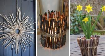 18 œuvres irrésistibles réalisées avec des bâtons et des brindilles pour décorer la maison et le jardin