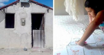 Una niña de 11 años vende cuentos escritos por ella misma para ayudar a los padres a construir la casa