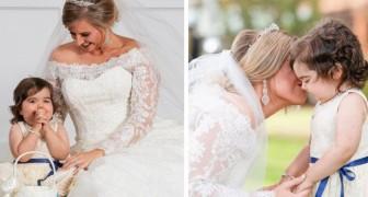 La bimba di 3 anni fa la damigella al matrimonio della sua donatrice di midollo osseo: l'ha salvata dalla leucemia