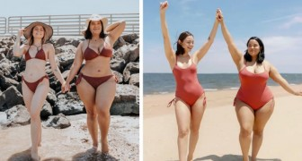 Deux amies au physique différent se prennent en photo dans le même bikini et prouvent que la beauté ne connaît pas de limites