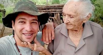 Er gibt zwei Jobs auf, um sich Vollzeit um seine 105 Jahre alte Oma zu kümmern