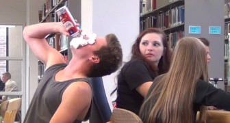 It's the most annoying thing that can happen in the library, but the reactions are hilarious!