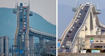 Eshima Ohashi, de brug die zo steil is dat hij lijkt op de achtbaan van een pretpark