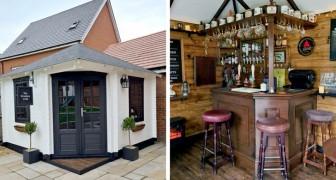 Un couple de décorateurs d'intérieur construit un pub dans un jardin privé en trois semaines seulement