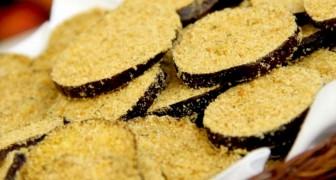 Gepaneerde aubergines: het recept om ze in de oven te bereiden met weinig ingrediënten en heel weinig calorieën