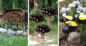 11 géniales décorations DIY pour décorer votre jardin de manière sophistiquée et extravagante