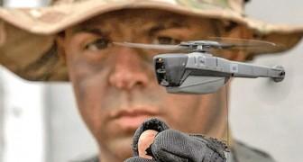 Un'azienda crea un mini-drone che pesa solo 33 grammi, silenzioso e tascabile