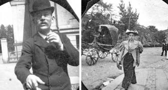 Ende der 1800er Jahre machte ein Junge geheime Fotos von Passanten, als wäre er ein antiker Paparazzo