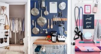 14 modi creativi per usare i pannelli forati arredando qualsiasi stanza in modo pratico e gradevole